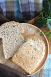 Wheat bread with seed Stock Photo