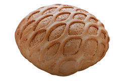 Wheat bread with sesame and pattern. isolated on white backgroun Royalty Free Stock Images