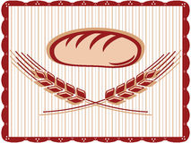 Wheat bread sign Royalty Free Stock Images