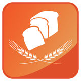 Wheat bread sign Royalty Free Stock Image