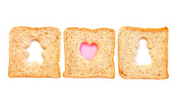 Wheat Bread Slice with boy and gril Royalty Free Stock Photos