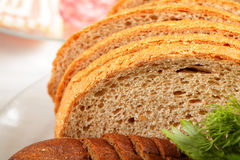 Wheat bread slices Stock Photography