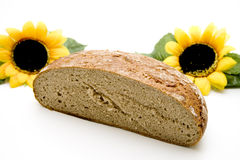 Wheat bread with sunflowers Stock Photography