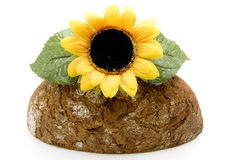 Wheat bread with sunflowers Royalty Free Stock Image