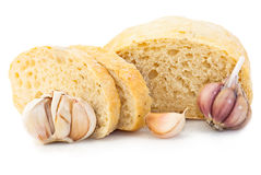 Wheat Bread With Garlic Stock Photo