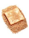 Wheat brown bread Stock Photos