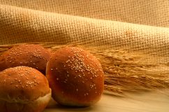 Wheat bun Royalty Free Stock Image
