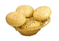 Wheat bun with sesame Royalty Free Stock Image