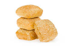 Wheat bun with sesame seeds Stock Image