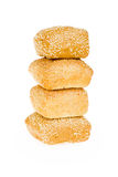 Wheat bun with sesame seeds. Isolated object suitable for advertisement/websites stock photography
