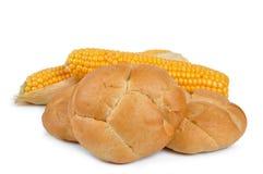 Wheat buns with corn Royalty Free Stock Photos