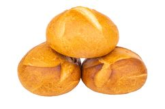 Wheat buns isolated on white background stock image