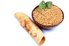 Wheat and chapati Stock Photo