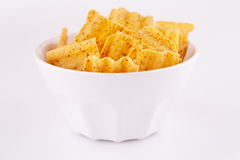 Wheat chips in bowl Royalty Free Stock Image