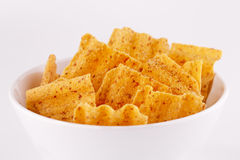 Wheat chips in bowl Royalty Free Stock Photography