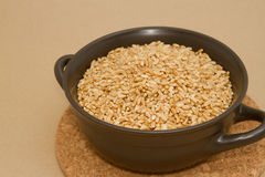 Wheat in clay bowl Stock Photography