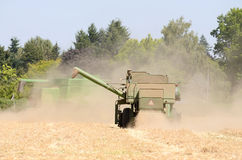 Wheat Combine Royalty Free Stock Images