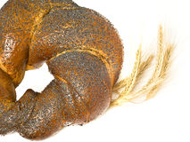 Wheat corn and bagel Royalty Free Stock Photography