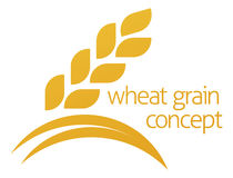 Wheat Corn Grain Icon Concept Royalty Free Stock Images