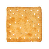 Wheat cracker. A single piece wholemeal oat biscuit isolated on white background stock photo