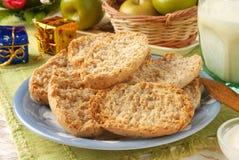 Wheat crackers Stock Photos