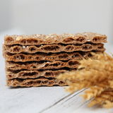 Wheat crackers or crispbread Stock Images
