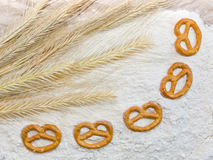 Wheat and cracknel Stock Photo