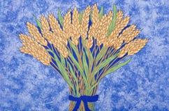 Wheat Design Fabric Stock Photos