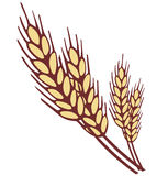 Wheat ear. Simple shapes vector illustration Royalty Free Stock Images