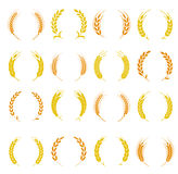 Wheat ear symbols for logo design. Stock Photo
