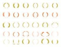 Wheat ear symbols for logo design. Royalty Free Stock Image