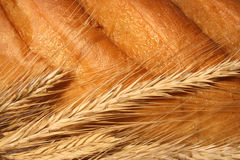 Wheat Ears On The Bread Stock Photography