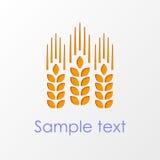 Wheat ears emblem eps10 Stock Images