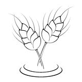 Wheat ears icon Royalty Free Stock Photos