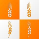Wheat ears icons eps10 Stock Photos