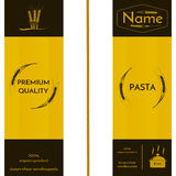 Wheat ears image and logo on the packaging of spaghetti or other pasta. Vector illustration Royalty Free Stock Photo