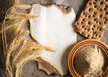 Wheat ears on vintage background Royalty Free Stock Photos