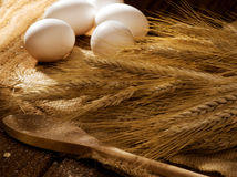 Wheat and eggs Royalty Free Stock Photo