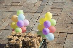 Wheat and feeding birds Royalty Free Stock Photo