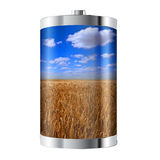 Wheat Field Battery Royalty Free Stock Photos