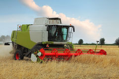 Wheat field with harvester Royalty Free Stock Photography