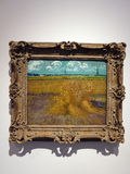 Wheat Field, 1888, Vincent Van Gogh. Wheat Field belongs to the artist's Harvest series, a group of ten paintings from the last half of June 1888. Distinct royalty free stock photo
