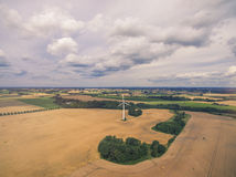 Wheat field and Wind Turbine Royalty Free Stock Photos