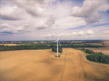Wheat field and Wind Turbine Stock Images