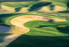 Wheat fields contour the Palouse hills Royalty Free Stock Images