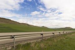 Wheat fields under blue sky Stock Photography