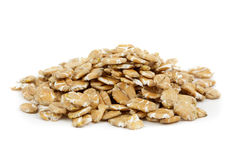 Wheat flakes Stock Photo