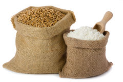 Wheat and flour royalty free stock photo