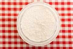 Wheat flour from above Stock Photography