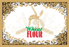 Wheat flour background Royalty Free Stock Photography